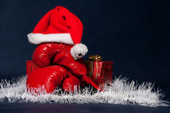 Unusual Christmas atmosphere stock images