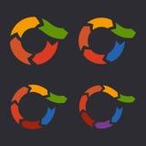 Unusual Circle Arrows Set. Vector Royalty Free Stock Photo