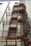 Unusual Circular Fire Escape Stock Image
