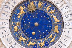 Unusual clock. An unusual clock found in Saint Marks Square Venice of northern Italy royalty free stock photography