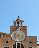 Unusual Clock near the rialto Bridge Stock Photography