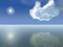 Unusual cloud. In pretty blue sky Royalty Free Stock Photography