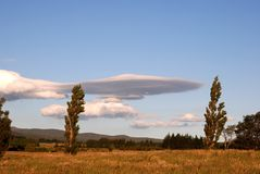 Unusual cloud formation over Tongariro National Park Royalty Free Stock Photo
