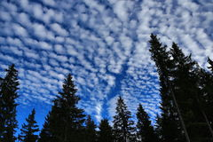 Unusual clouds, autumn scenery in the vicinity of Zelezna Ruda, Czech republic Royalty Free Stock Image