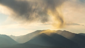 Unusual clouds over mountains of Colorado Stock Image