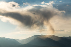 Unusual clouds over mountains of Colorado Royalty Free Stock Image