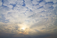 Unusual clouds at sunset Royalty Free Stock Image