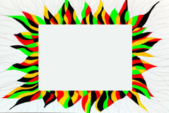 Unusual colorful bright free hand drawn frame. Stock Photo
