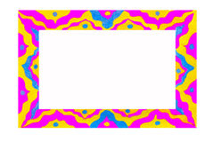 Unusual colorful bright free hand drawn frame. Royalty Free Stock Photo