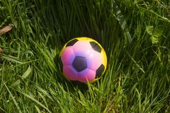 Free Unusual Colourful Alternative Soccer Football Ball Sport Field Royalty Free Stock Images - 120227429