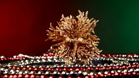 Unusual coral toy for Christmas or New Year and stock video footage