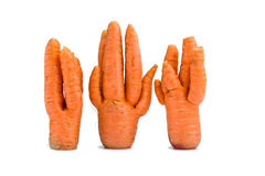Unusual crop of carrots Stock Photo