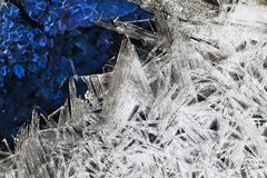 Unusual crystals of ice. Stock Photos