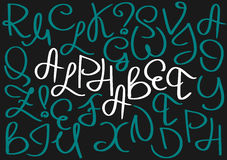 Unusual curved english uppercase alphabet. Royalty Free Stock Images