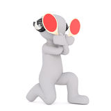 Unusual 3D illustrated rendering of signal man Royalty Free Stock Photos