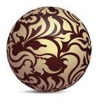 Unusual dark brown decorative glossy shine sphere ball  Stock Photography