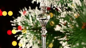 Unusual decoration - a crystalline toy on stock video footage