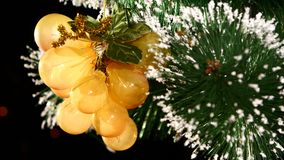 Unusual decoration like grapes - a crystalline toy stock video footage