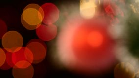 Unusual decoration - a round shiny red toy on stock footage