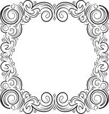 Unusual, decorative lace ornament, vintage frame with square emp Stock Images