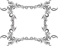 Unusual, decorative lace ornament, vintage frame with square emp Royalty Free Stock Photography