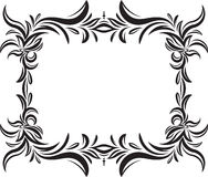 Unusual, decorative lace ornament, vintage frame with square emp Royalty Free Stock Photos