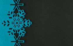Unusual design christmas background with blue snowflakes Stock Photos