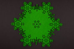 Unusual design christmas background with green snowflakes Stock Photography