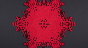 Unusual design christmas background with red snowflakes Royalty Free Stock Image