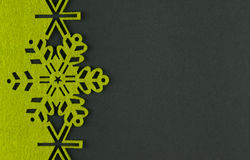 Unusual design christmas background with yellow snowflakes Stock Photography