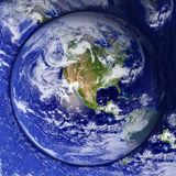 Unusual Earth Button royalty free stock images