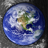 Unusual Earth Button royalty free stock photo