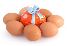 Unusual egg Royalty Free Stock Photo