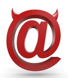 Unusual email sign Royalty Free Stock Photo