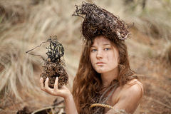 Unusual female portrait Royalty Free Stock Images