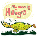 Unusual fish says that her name is Hungry Royalty Free Stock Photos