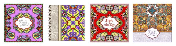 Unusual floral ornamental template with place for your text, oriental vintage pattern. For invitation party card, brochure design, postcard, packing, book cover vector illustration