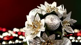 Unusual flower toy for Christmas or New Year and stock video footage