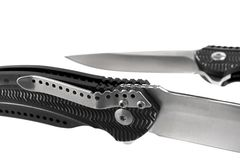 Unusual folding pocket knife Royalty Free Stock Image