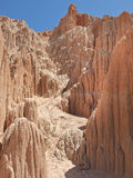 Unusual formations at Cathedral Gorge State Park,  Royalty Free Stock Photo