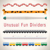 Unusual Fun Colorful Dividers Royalty Free Stock Photography