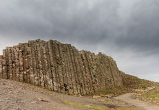 Unusual geology at Giants Causeway Ireland Royalty Free Stock Photos