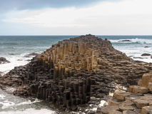 Unusual geology at Giants Causeway Ireland Stock Photography