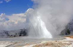 Unusual Geyser Erupting at an angle Royalty Free Stock Images