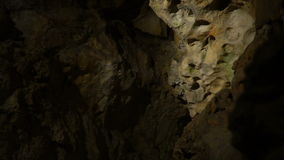 Unusual and gloomy cave stock footage