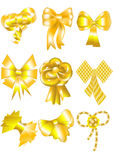 Unusual gold bows Royalty Free Stock Image