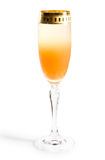 Unusual gradient cocktail, clipping path. Unusual gradient cocktail with juice and champagne, clipping path Stock Photo