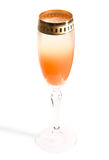 Unusual gradient cocktail, clipping path. Unusual gradient cocktail with juice and champagne, clipping path, limited focus Stock Image