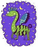 Unusual green dragon Stock Photo