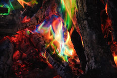 Unusual green flame Royalty Free Stock Photo